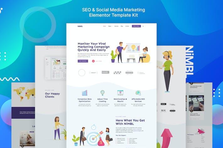 Thumbnail for Nimbl - SEO & Social Media Marketing Template Kit