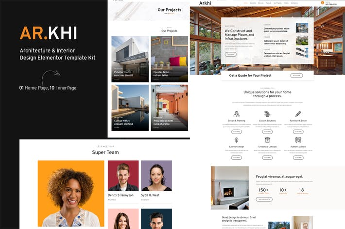 Arkhi Architektur & Innenarchitektur Elementor Template Kit