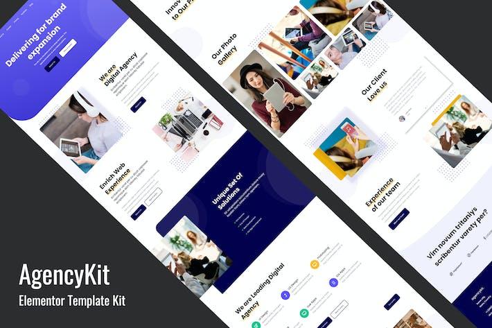 Thumbnail for AgencyKit - Portfolio Elementor Template Kit