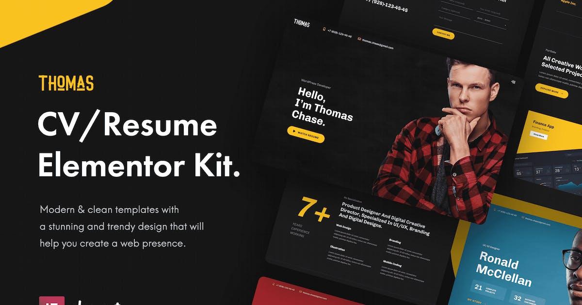 Download Thomas - CV/Portfolio Elementor Template Kit by Pixelshow