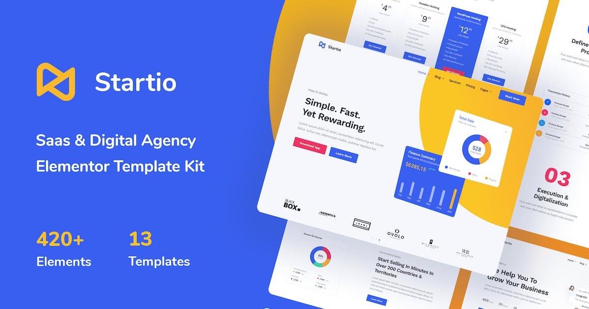 Download Startio - Saas & Digital Agency Elementor Template Kit by Pixelshow