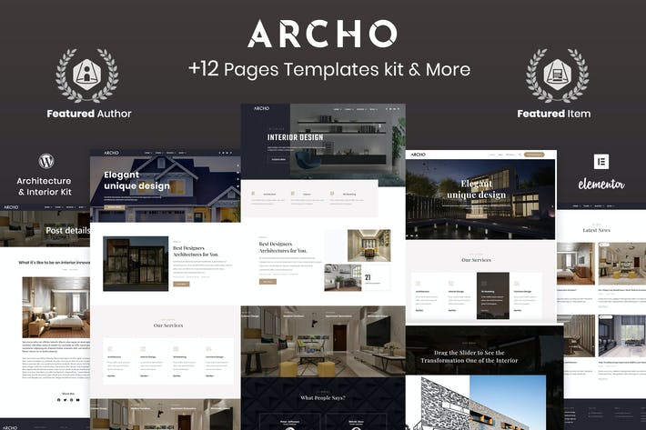 Archo - Architektur & Interieur Elementor Template Kit