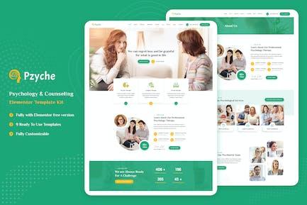 Pzyche - Psychology & Counseling Elementor Template Kit