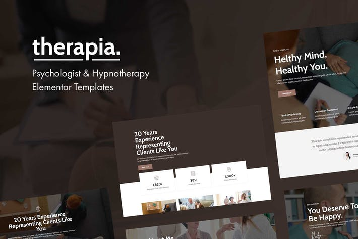 Thumbnail for Therapia - Psychologist & Hypnotherapy Elementor Templates