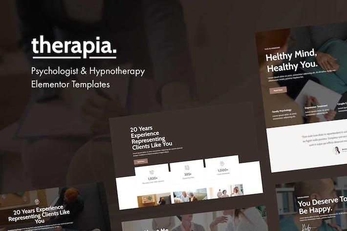 Therapia - Psychologe & Hypnotherapie Elementor Vorlagen