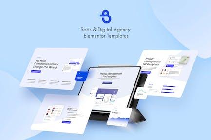Burto - Saas & Digital Agency Elementor Template Kit