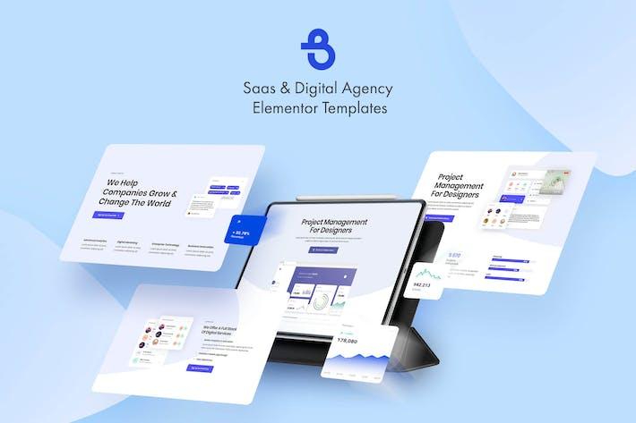 Thumbnail for Burto - Saas & Digital Agency Elementor Template Kit
