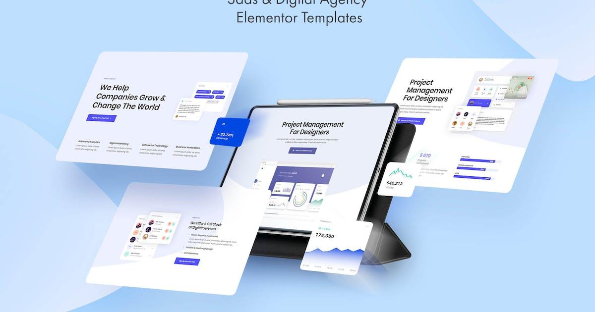 Download Burto - Saas & Digital Agency Elementor Template Kit by Pixelshow