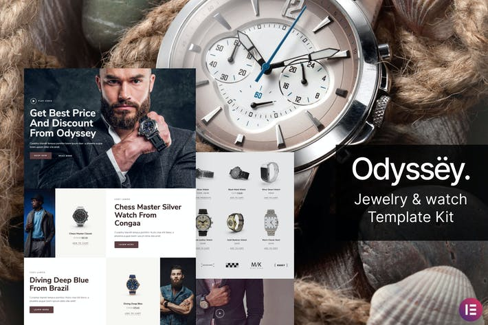 Odyssey — Joyería y reloj WooCommerce Template Kit