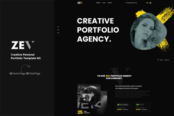 Thumbnail for Zev - Creative Personal Portfolio Template Kit