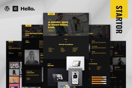 STARTOR - Agency & Company Elementor Template Kit