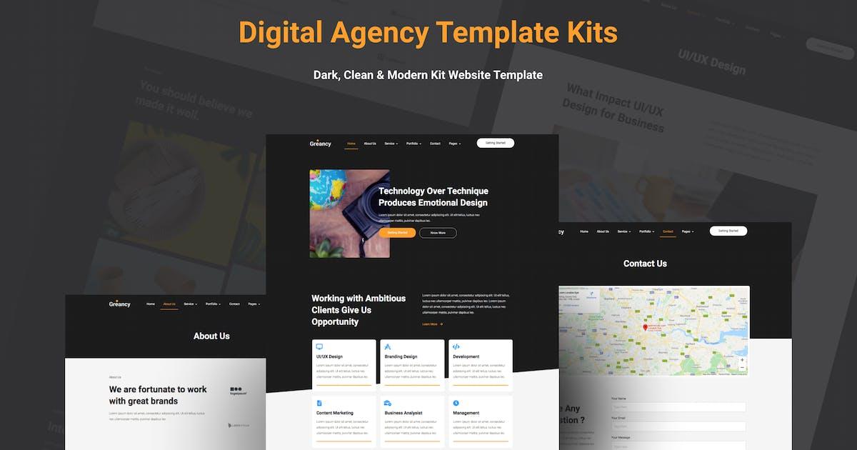 Download Greancy - Digital Business Agency Elementor Template Kit by blunesia