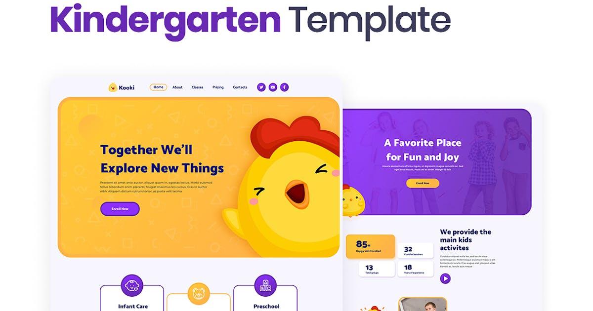 Download Kooki – Kindergarten Elementor Template Kit by merkulove