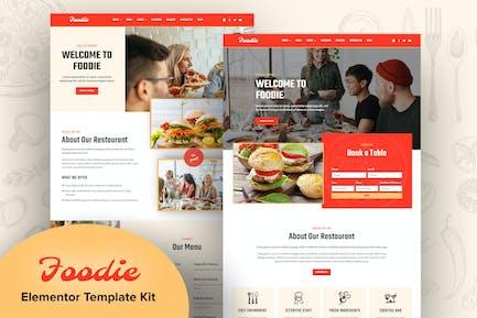 Foodie - Fast Food Elementor Template Kit