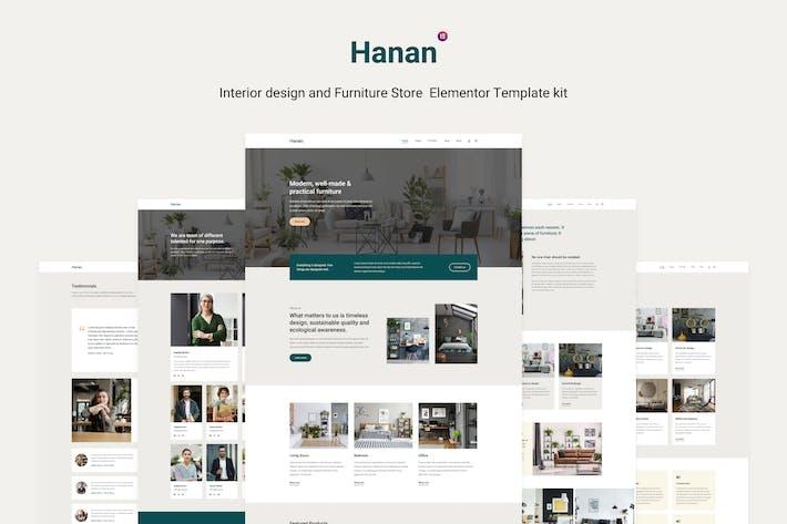 Thumbnail for Hanan - Interior Design & Furniture Store Elementor Template kit