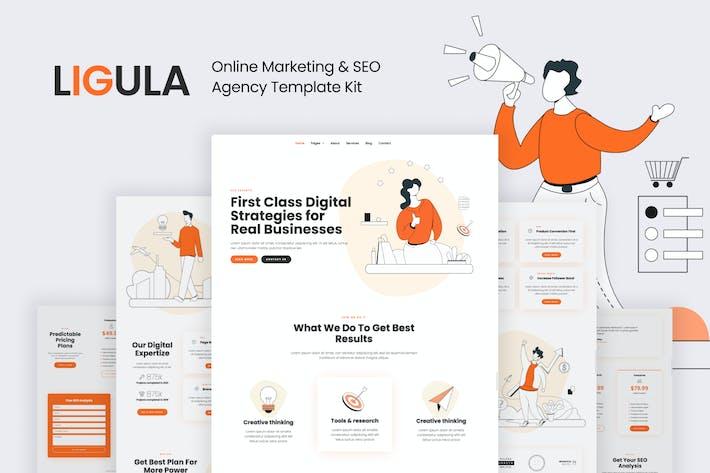 Thumbnail for Ligula — Online Marketing & SEO agency Template Kit