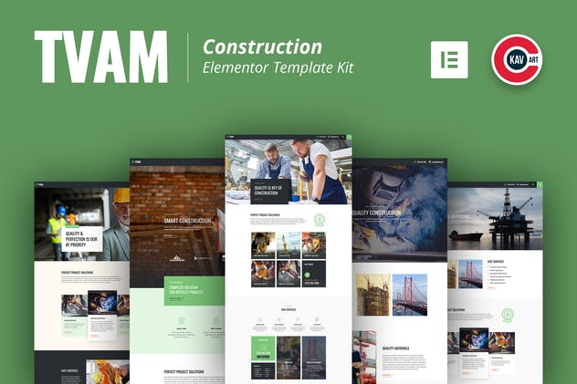 Tvam - Construction Elementor Template Kit