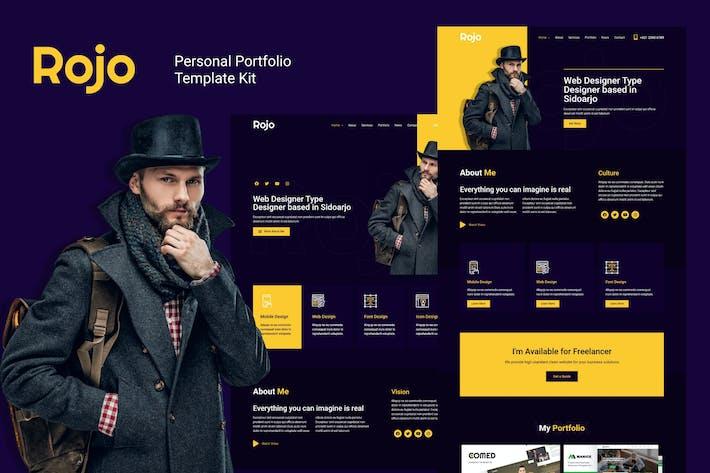 Thumbnail for Rojo - Persönliches Portfolio Elementor Template Kit