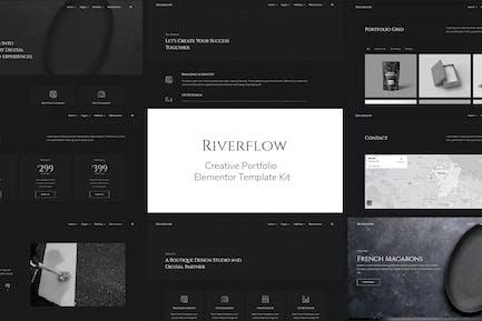 Riverflow - Creative Portfolio Elementor Template Kit