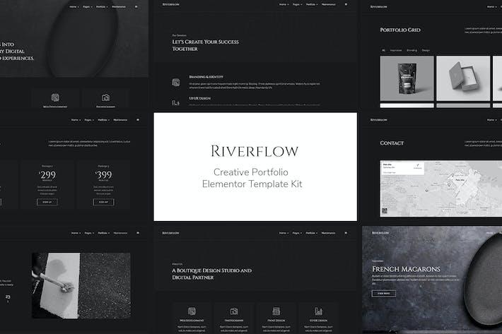 Thumbnail for Riverflow - Creative Portfolio Elementor Template Kit