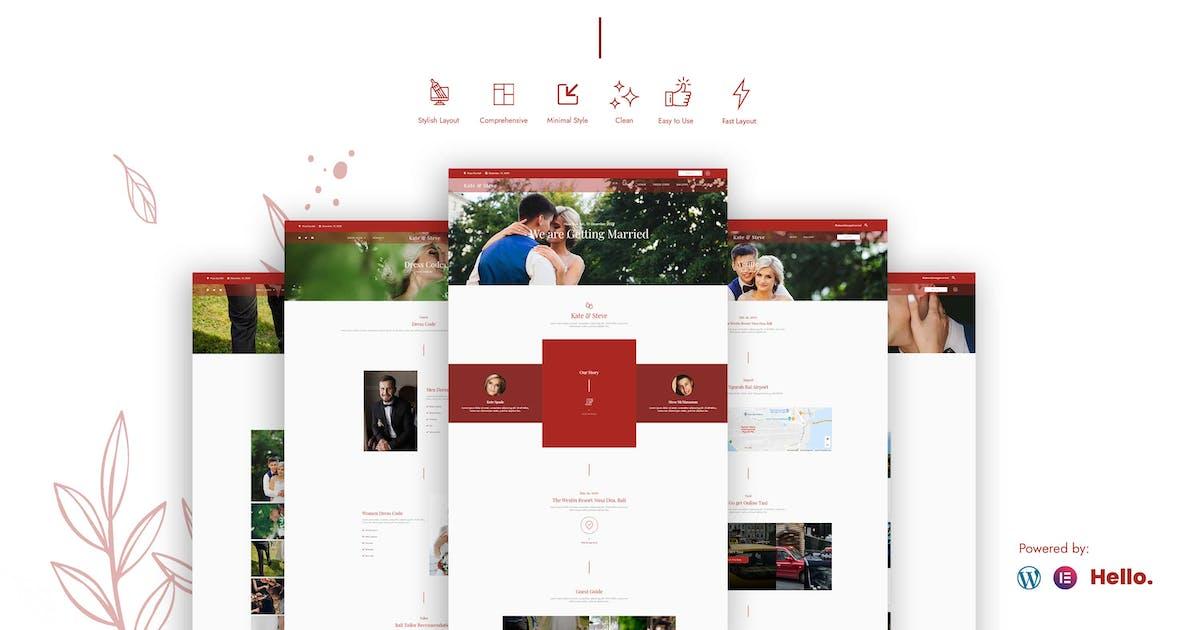 Download Kate & Steve - Wedding Invitation Elementor Template Kit by puricreative