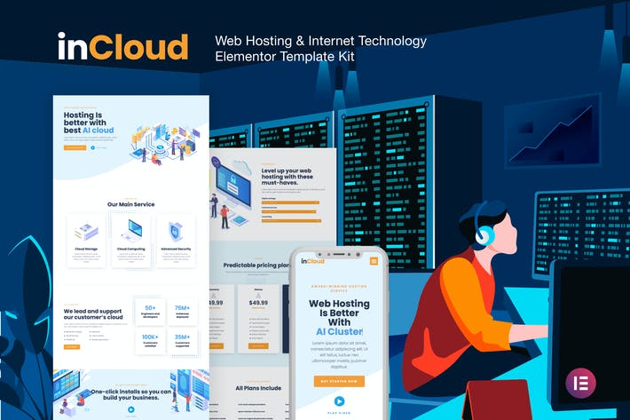 InCloud - Webhosting Elementor Template Kit