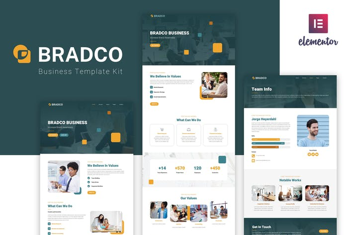 Thumbnail for Bradco - Business Elementor Template Kit