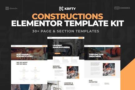 KRAFTY - Construction & Industry Elementor Template Kit