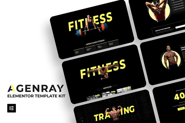 Agenray | Gym Elementor Template Kit