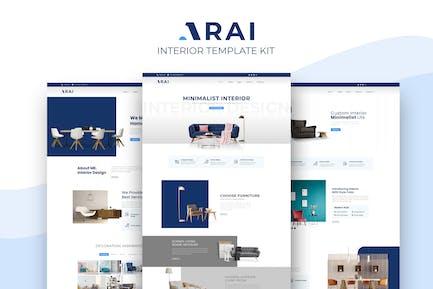 Arai | Interior & Furniture Elementor Template kit