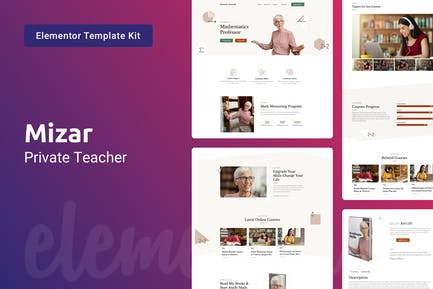 Mizar — Private Teacher & Education Elementor Template Kit
