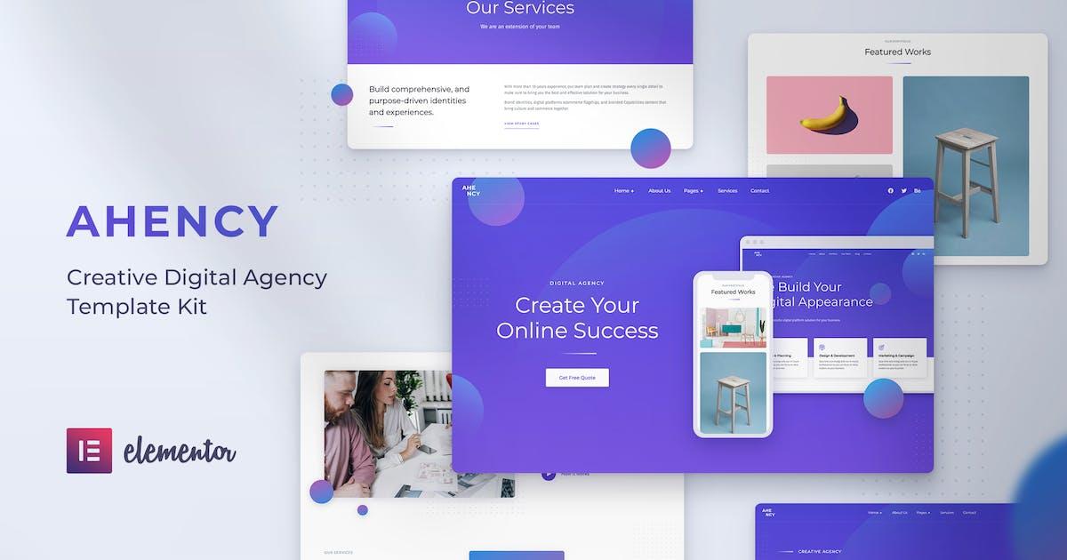 Download AHENCY - Creative Digital Agency Elementor Template Kit by baliniz