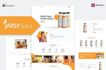 Jarsy Juice - Trinken Marke Elementor Template Kit