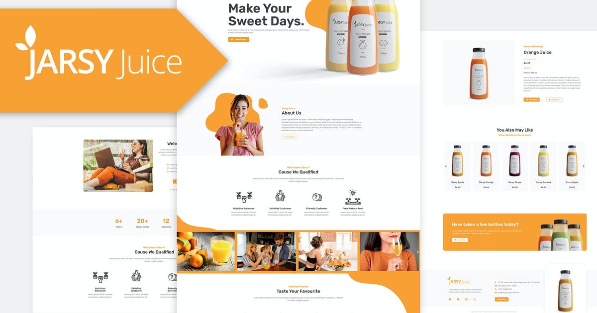 Download Jarsy Juice - Drink Brand Elementor Template Kit by Rometheme