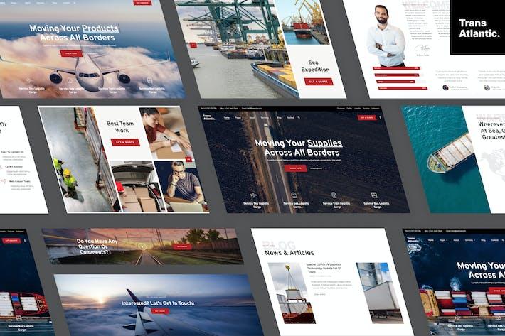 Thumbnail for Trans Atlantic – Transportation & Logistics Elementor Template Kit