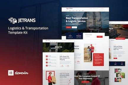 Jetrans – Logistics & Transportation Elementor Template Kit