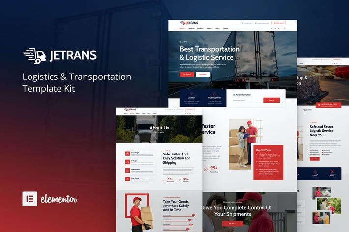Thumbnail for Jetrans – Logistics & Transportation Elementor Template Kit