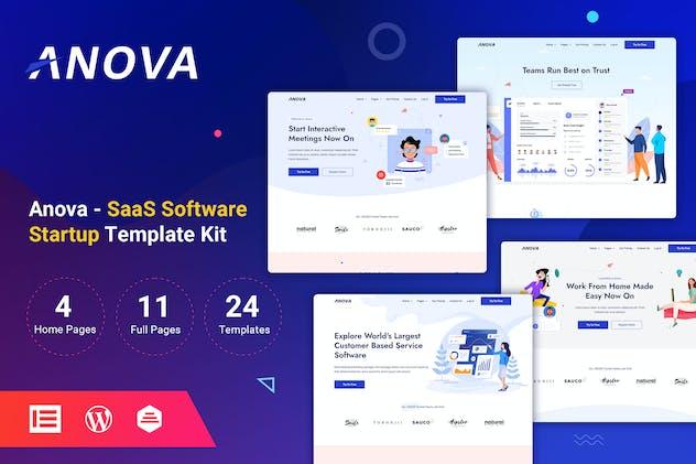 Anova - SaaS & Startup Elementor Template Kit
