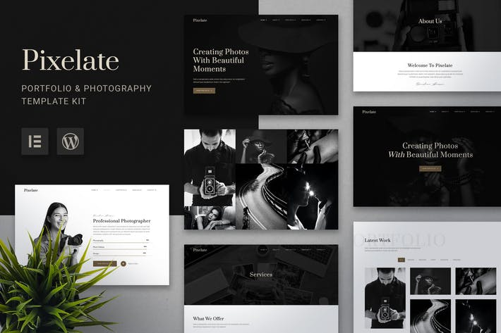 Pixelate - Portfolio & Photography Elementor Template Kit