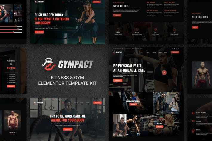 Gympact - Fitness & Gym Elementor Template Kit