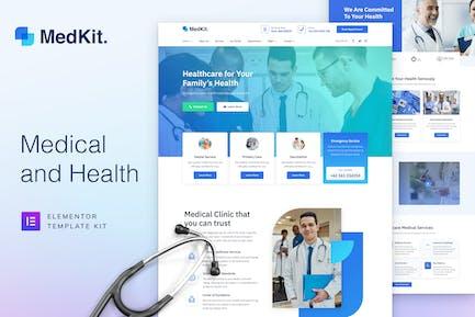 MedKit - Health & Medical Elementor Template Kit