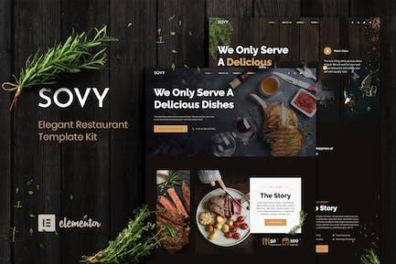 Sovy - Restaurant Elementor Template Kit
