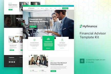 Hyfinance - Financial Advisor Elementor Template Kit