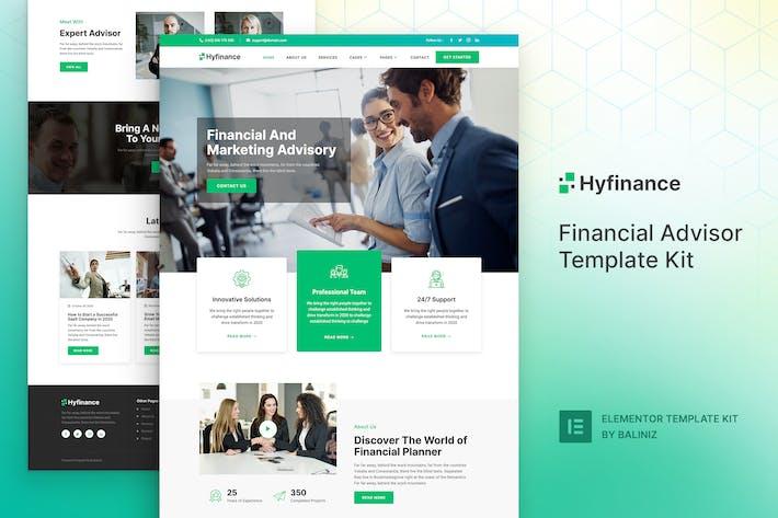 Thumbnail for Hyfinance - Financial Advisor Elementor Template Kit
