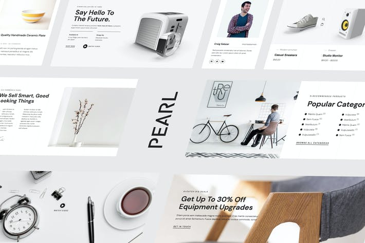 Thumbnail for Pearl — Modernes & Einfaches WooCommerce Store Template Kit