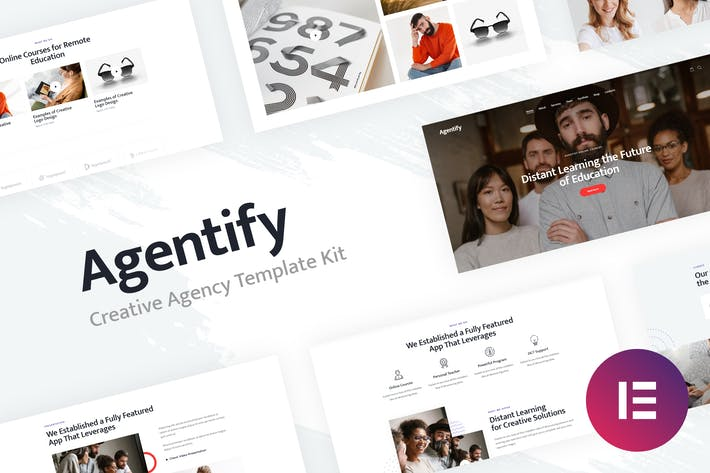 Thumbnail for Agentify | Personal Portfolio for Creatives Elementor Template Kit
