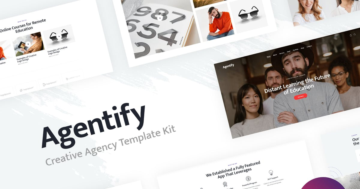 Download Agentify | Personal Portfolio for Creatives Elementor Template Kit by AncoraThemes