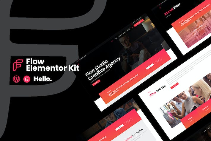 Flow - Creative Agency Business Elementor Template Kit
