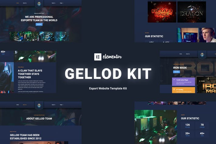 Gellod - Esport Gaming Elementor Template Kit