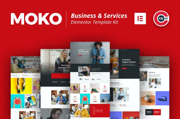 Thumbnail for Moko - Business & Services Elementor Template Kit